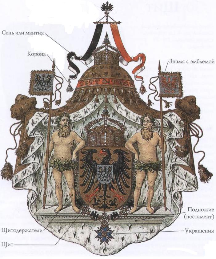 Наиболее насыщенный полный герб знати